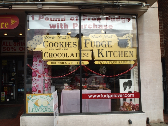 Fudge shop on Main Street