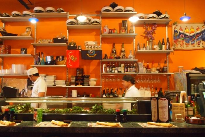 the sushi bar at Nano Asian Dining