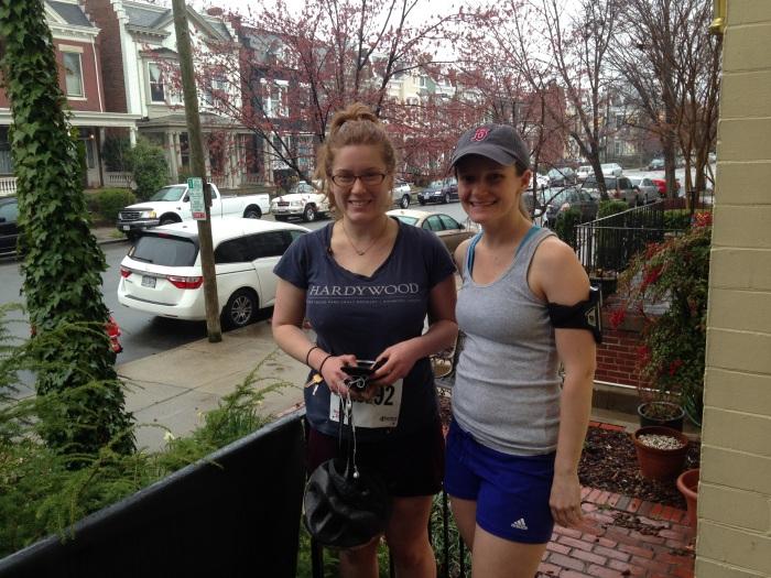 Sarah and Rose on Sarah's porch