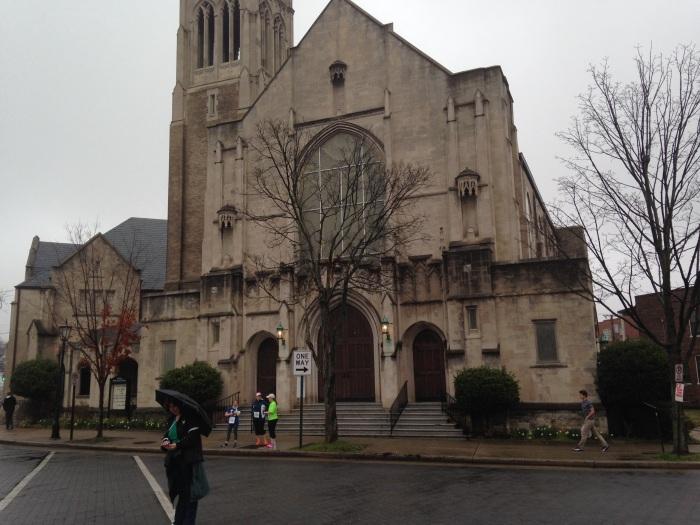 I pass a church along the way