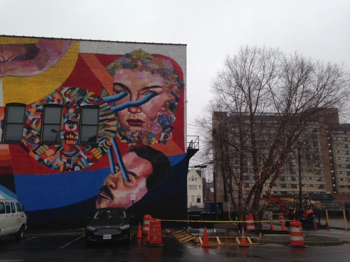 Street art on the side of Club 534 along Broad Street