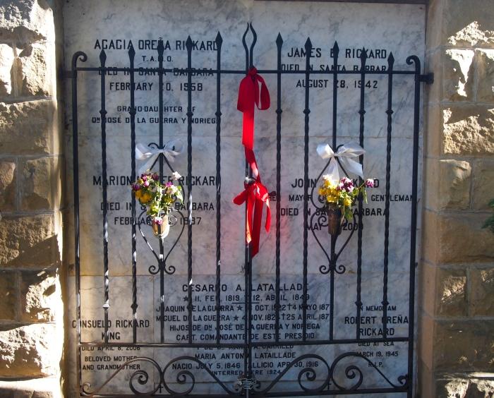 Memorial at Santa Barbara Mission