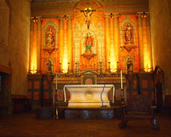 the original interior of the church
