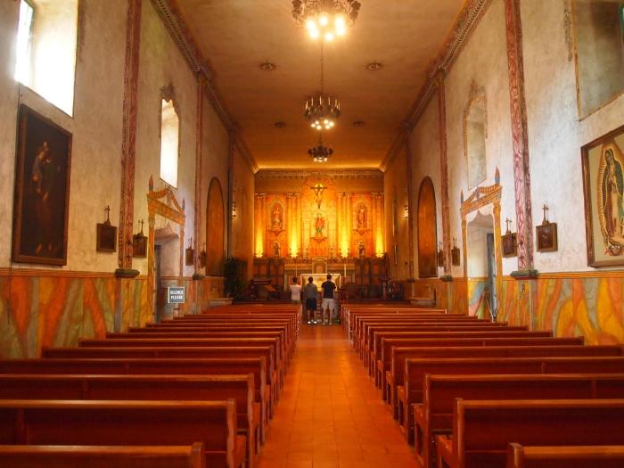 Interior of Old Mission Santa Barbara church