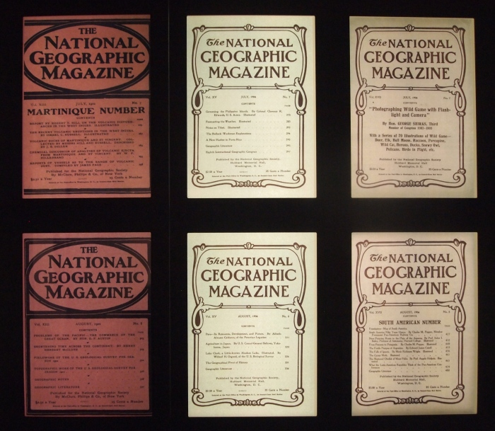 National Geographic covers from its early days