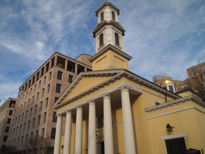St. John's Church in Lafayette Square, across from the White House