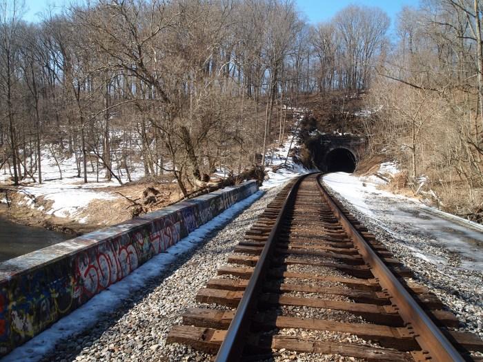 concrete bridge before tunnel