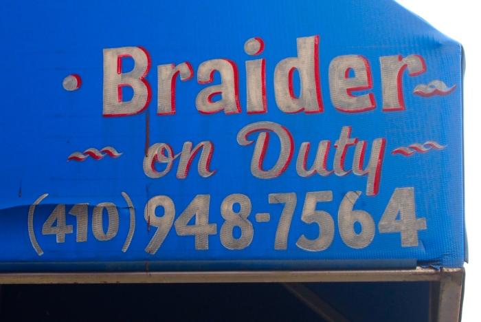 Braider on duty