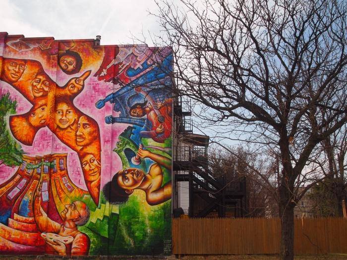 Baltimore street art near Green Mount Cemetery