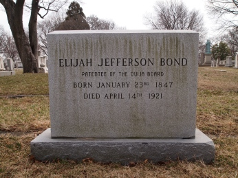 Grave of Elijah Jefferson Bond, patentee of the Ouija Board