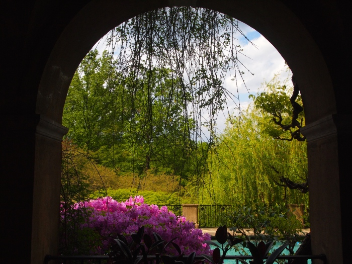 View to the Swimming Pool from the Loggia