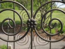 wrought iron spirals