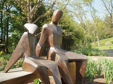 Sharing a Story - bronze & steel
