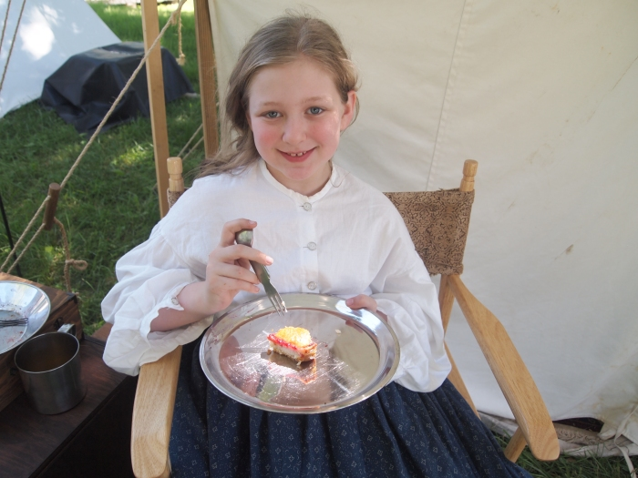 Even little girls are Civil War Re-enactors