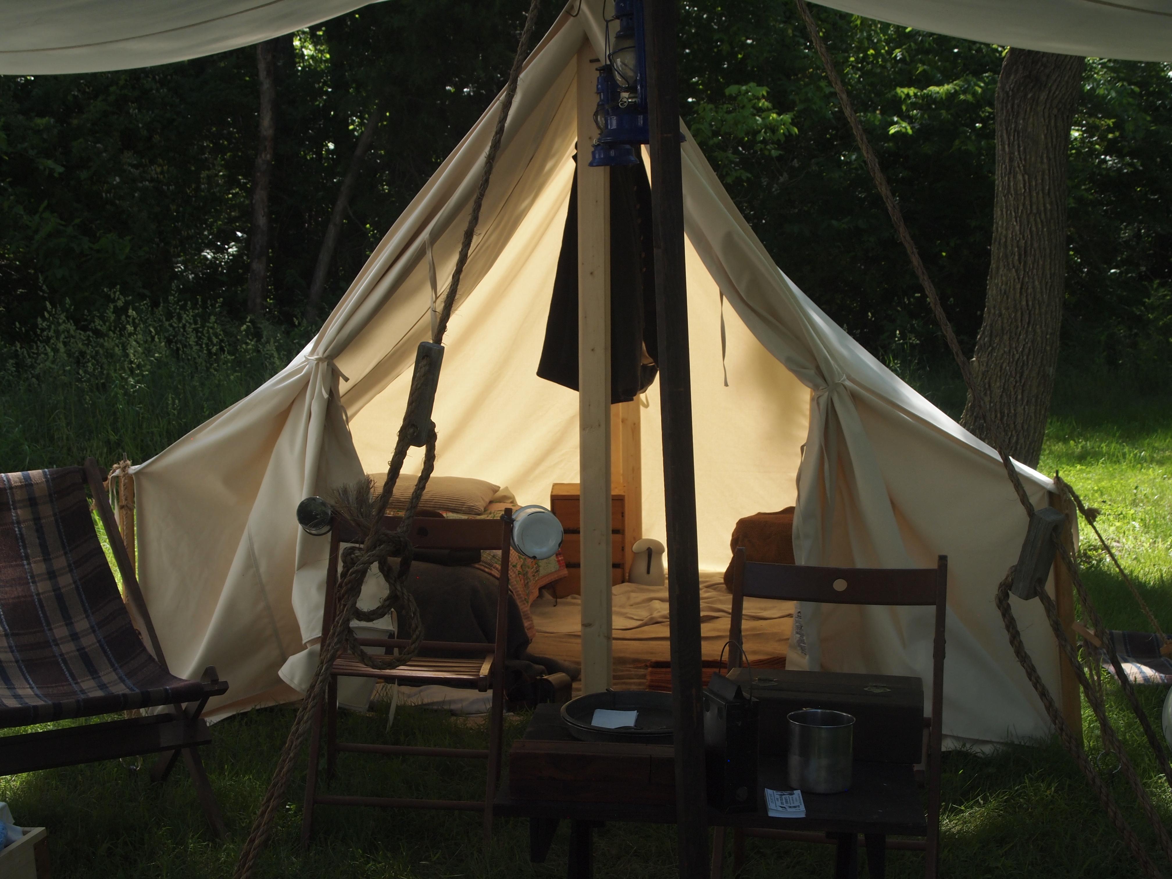 Civil War Tents : A civil war encampment at sully plantation general