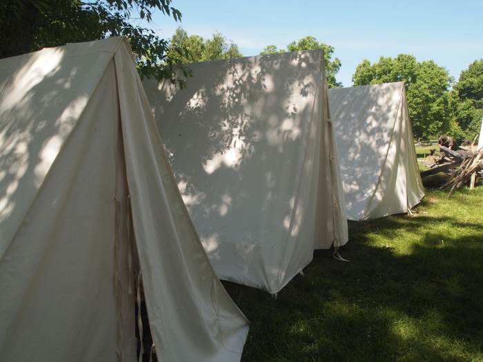 shadows on tents