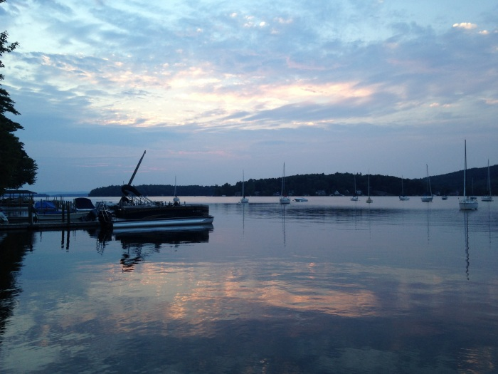 Sunrise on Lake Winnipesaukee