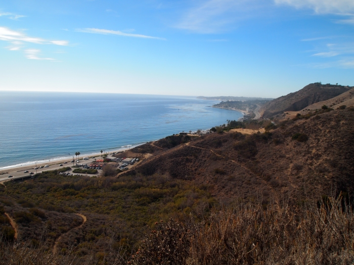 the Malibu coast