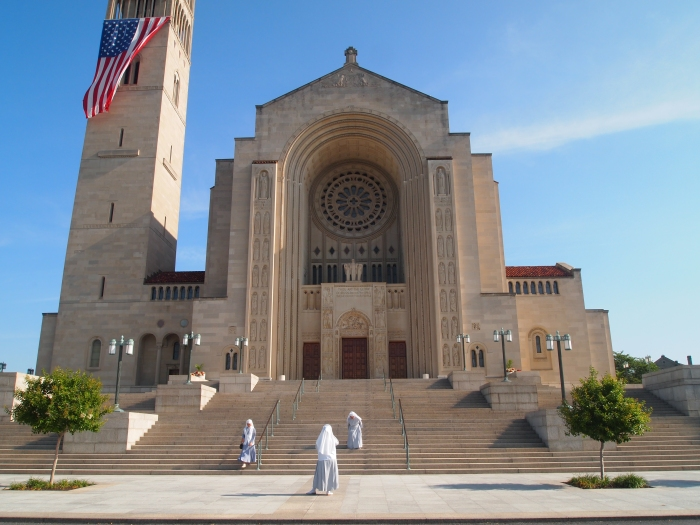 Main entrance of the Basilica of the National Shrine of the Immaculate Conception