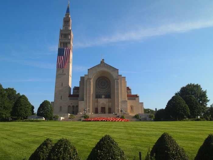 Front entrance of the Basilica of the National Shrine of the Immaculate Conception