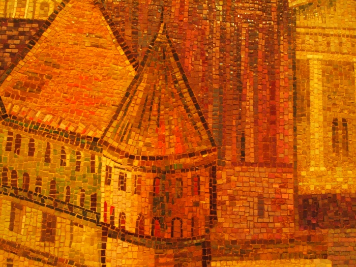 Close up of mosaics: Our Lady of Siluva