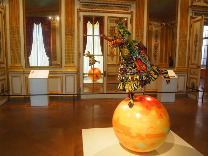 Girl on Globe 2 by Yinka Shonibare