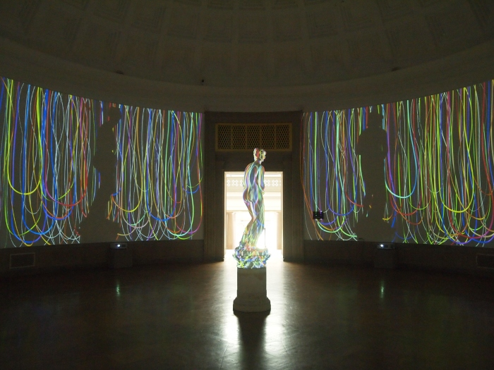 Venus in string lights