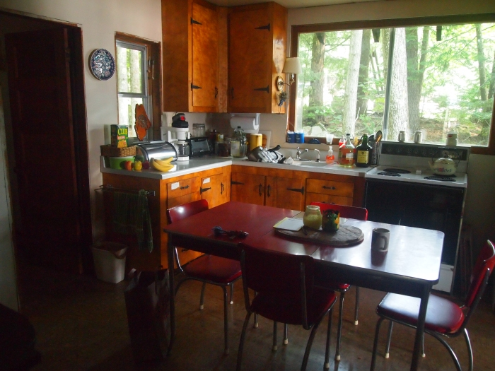 the kitchen of the cottage