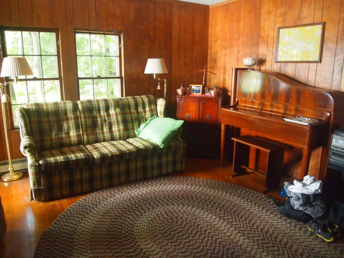 the living room at the cottage
