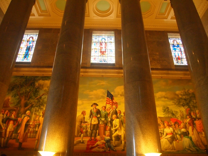 Mural of George Washington and his officers attending a St. John's Day Observance at Christ Church in Philadelphia