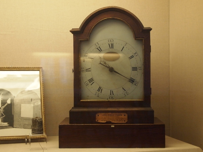 Chamber clock of George Washingon stopped at the time of his death