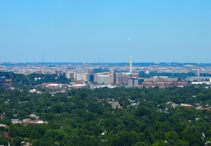 views of Washington and the Washington Monument