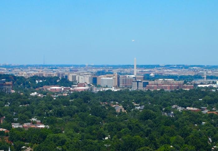 views of Washington and the Washington Monument