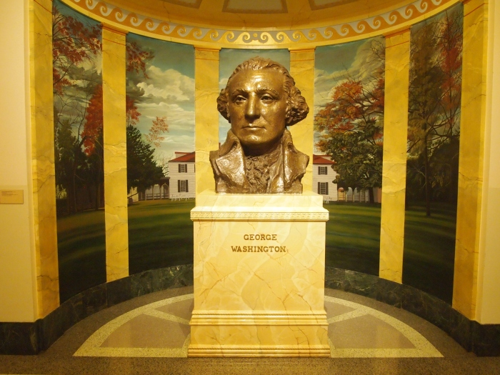 Bust of Washington with Mount Vernon surrounding