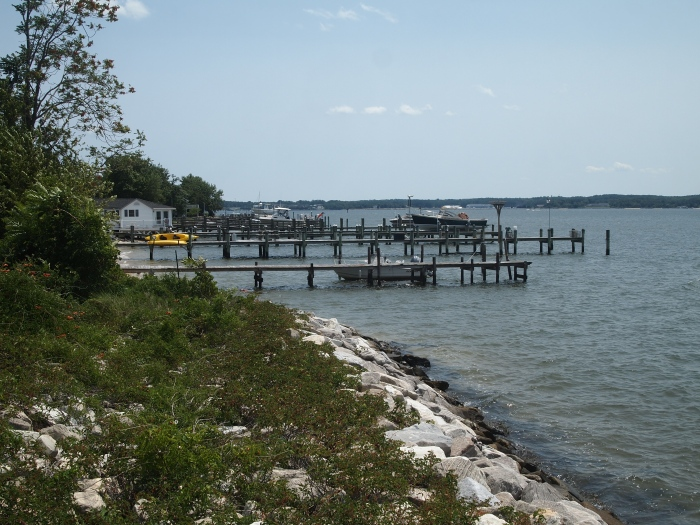 Piers south of Solomon's Pier on the Patuxent River