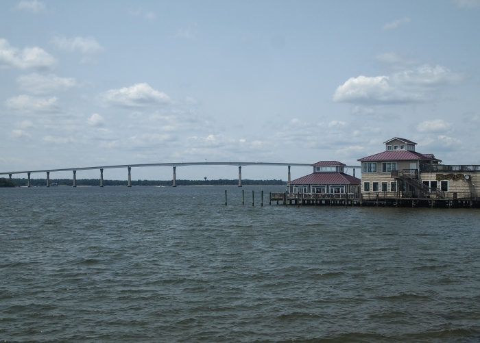 Solomon's Pier and the Governor Thomas Johnson Bridge