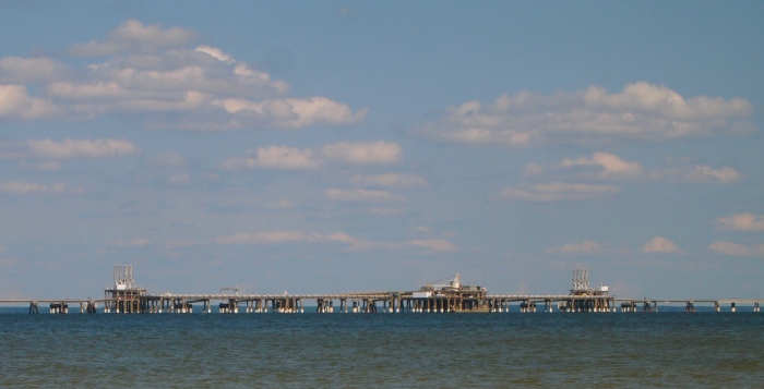 some kind of abandoned pier