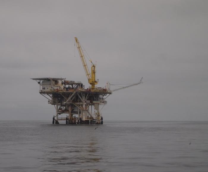 Oil rig off the California coast
