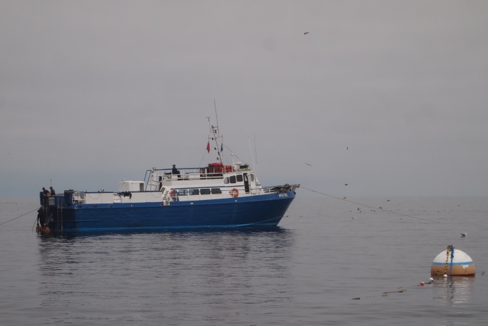 Dive boat off Anacapa Island