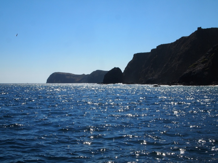 the glittering sea