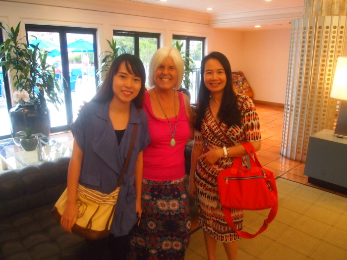 Christine, me, and her mom, Li