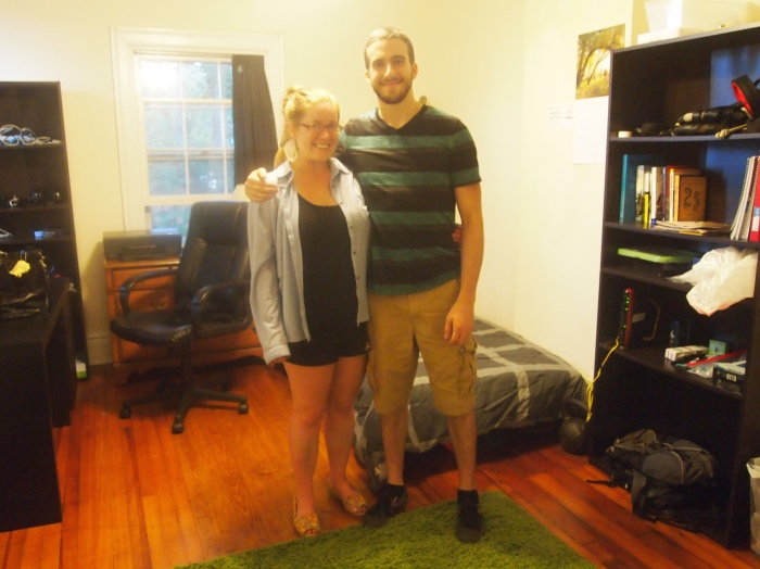 Sarah and Alex in his new room