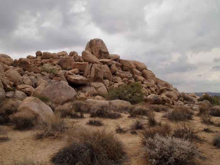piles of rocks at Joshua Tree