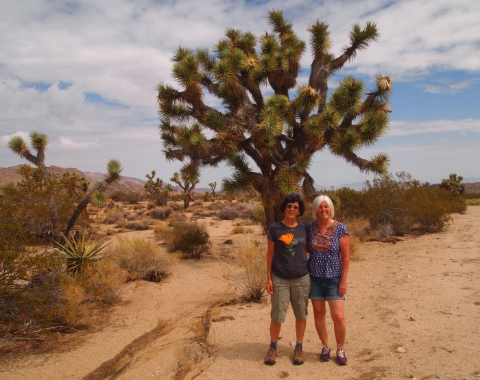 Rosie and me in front of the Tree of Life