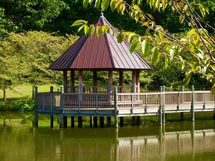 pavilion on the pond
