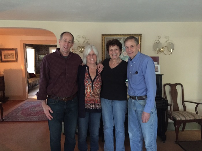 Mike, me, Barbara and David (the innkeepers)