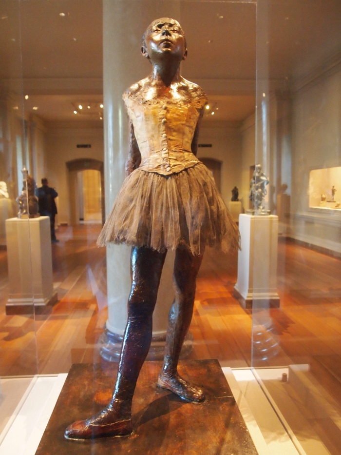Edgar Degas, Little Dancer Aged Fourteen, 1878-1881, waxed satuette