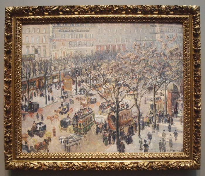 Boulevard des Italiens, Morning, Sunlight (oil on canvas, 1897) - Camille Pissarro
