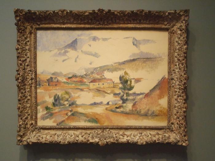 Montagne Sainte-Victoire, from near Gardanne (1887) - Paul Cezanne