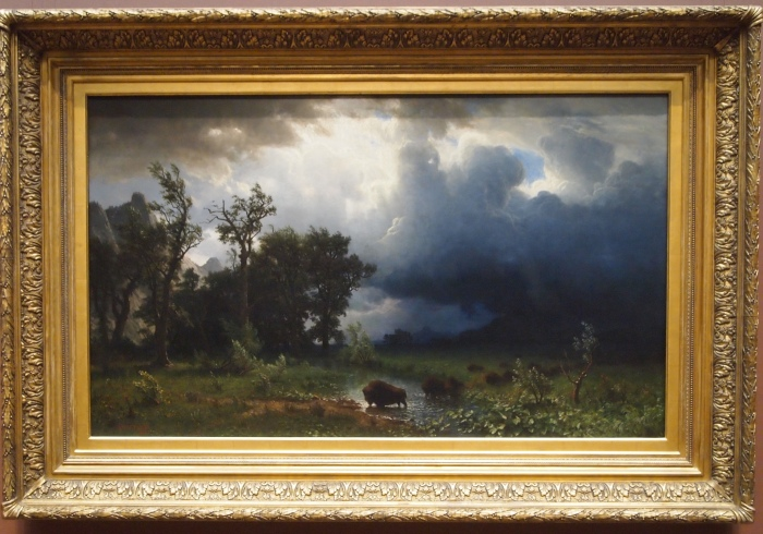 Buffalo Trail: The Impending Storm (1869) - Albert Bierstadt